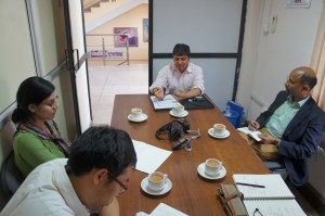 June 11 meeting with Mr. Ramesh from NSET