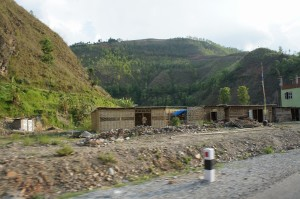 June 14 temoprary shelter in our target village