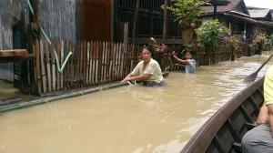 ミャンマー洪水の様子