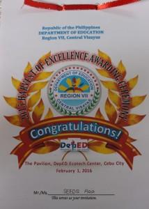 1. Awarding Invitation to SEEDS Asia